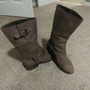 Cole Jean Brown leather boots